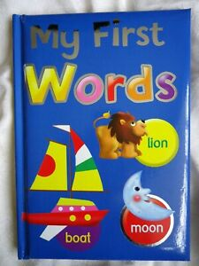 MY FIRST WORDS BOOK - children's educational - girls,boys - HARDBACK - BRAND NEW