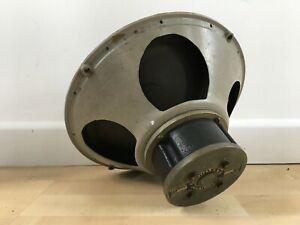 "GOODMANS 12"" 15 Ohm Rare Vintage BLACK Alnico Speaker Driver Needs Recone Lot1/2"