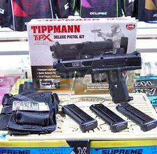 Tippmann TiPX Deluxe Paintball Magfed Pistol Kit - Black TPX + Holster + 3 Mags