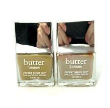 Lot/2 Butter London Patent Shine 10X Nail Lacquer Vernis ~ Yummy Mummy ~ .4 oz