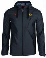 PUMA FERRARI SCUDERIA MENS FULL ZIP HOODED JACKET WINDBREAKER ANTRACIT ASIAN SZ