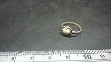 Very rare & Stunningly beautiful Roman Silver tiny ring with white stone unique