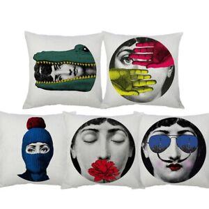 Fornasetti Lina Cavalieri Decorative Throw Pillow Covers European Colorful Décor