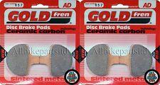 GOLDFREN FRONT BRAKE PADS (2x Sets) * HARLEY-DAVIDSON * GIRLING CALIPER * (1997)