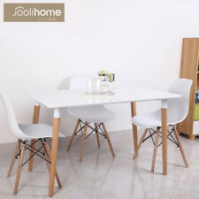 Dining Tables 120X80cm Coffee Table White Rectangle With Wood legs