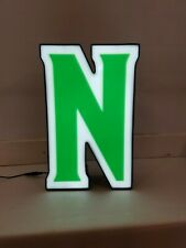 Letter N Retro Marquee Channel Letter N Vintage Sign Green Amp White Led