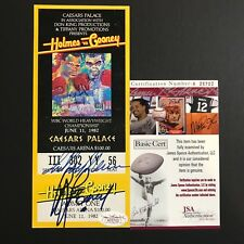 Larry Holmes Gerry Cooney LeRoy Neiman Signed Full Boxing Fight Ticket 1982 JSA