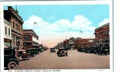 "DOUGLAS, Arizona  AZ   ""G"" AVENUE from 10th Street Scene  ca 1920s  Postcard"