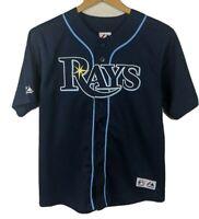 Youth Kids Ben Zobrist Tampa Bay Rays Baseball Jersey Sz Large Majestic
