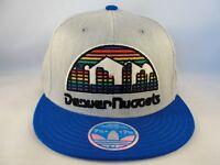 Denver Nuggets NBA Adidas Flex Cap Hat Size L/XL Gray Blue