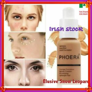 Phoera Perfect Beauty Face Liquid Foundation Base Soft Matte Wear Oil  & Primer