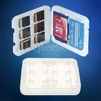 2x 3x 4x 5x 6x 8 in 1 Plástico Micro SD SDHC TF Tarjeta De Memoria MS Caja Funda