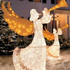 "60"" Lighted Animated Indoor/Outdoor Christmas Angel Sculpture Yard Art"