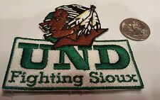 Und University of North Dakota Fighting Sioux embroidered iron on patch Nice
