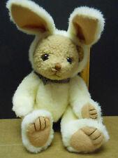 "Bear Easter Bunny Rabbit Costume stuffed plush 12"" height"