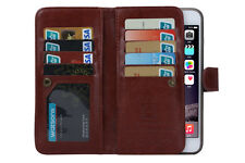 Luxury 9 Card slot Leather Wallet Case Flip Cover For Apple phone SE 6 6s 6 Plus
