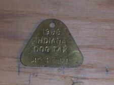 Vintage Dog License Tax Tag State of Indiana County 9 3499  yr 1966        dg23