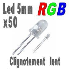 50x Led 5mm RGB clignotement lent 6000mcd