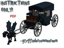 LEGO Custom Harry Potter Hogwarts Carriage INSTRUCTIONS ONLY !