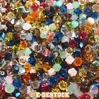 lot de 50 Perles Toupies 4mm Cristal Swarovski - MULTICOLORE / creation bijoux