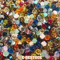lot de 50 Perles Toupies 4mm Cristal Swarovski - MULTICOLORE / creation bijoux