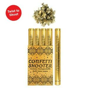 Confetti Shooter Gold Biodegradable 50cm Compressed Air Cannon Party Wedding