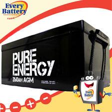Pure Energy 12V 260Ah AGM Deep Cycle Battery SOLAR Off-grid Caravamn