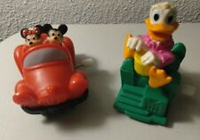 DISNEY MICKEY & MINNIE MOUSE & DONALD DUCK CAR WIND UP TOY Burger King Kids Club