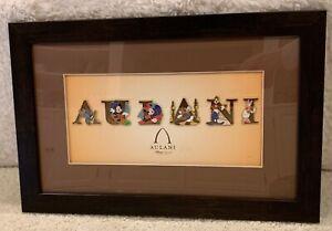 Disney Aulani Hawaii Character Letter Framed 6 Pin Set- RARE
