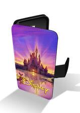 Walt Disney Castle Sunset Sunrise Mickey Mouse Wallet Leather Phone Case