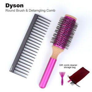 "Dyson Supersonic Styling Detangling Comb and Round Brush 1.4"" Set Fuchsia"