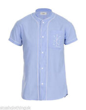 Camisas casuales de hombre azul talla M