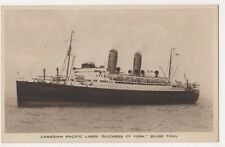 Canadian Pacific Liner Duchess of York Shipping Postcard B625