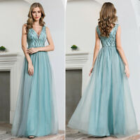 Ever-Pretty US V-neck Long Floral Evening Prom Dress A-Line Formal Cocktail Gown