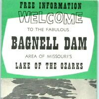 c1940s Lake of the Ozarks! - BAGNELL DAM Vacation Tourist Travel Brochure Map 1P