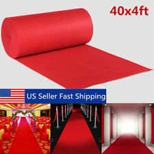 40ftx4ft Red Carpet Runner Wedding Hollywood Party Aisle Floor Rug Decoration