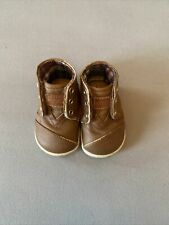Toms Shoes Baby Leather Chukka Boots Brown Size 3 Pre Owned