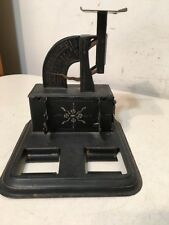 Rare Antique Reliance Postal Scale Tole Painted Desk Pen Tray Ink Well