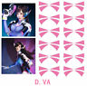 1page Overwatch DVA Face Temporary Tattoo Cosplay Prop (5 pairs)