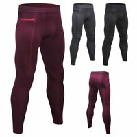 Men Compression Base Layer Thermal Legging Sports Gym Workout Pants Fitness Yoga