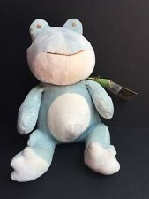 My Natural Bamboo Collection Blue Frog Plush Toy Non Toxic NEW with Tags