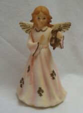 Vtg Ara Plastic Angel W/ Harp Music Box Silent Night Hong Kong Works