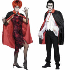 Adult Reversible Red and Black Halloween Cape Vampire Fancy Dress