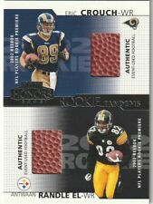 2002  Playoff HONORS  ANTWAAN RANDLE EL & ERIC CROUCH  Rookie Tandems  RC BALL