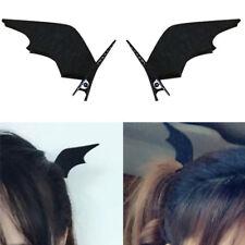 2Piezas Puños del oído Bat Clip en Negro Halloween Gótico