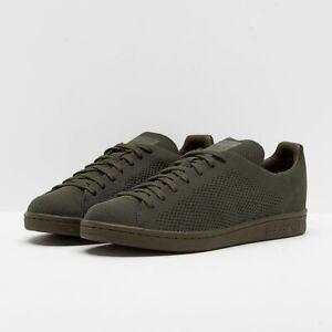 ADIDAS STAN SMITH PK Primeknit mesh men's shoes S82155 branch khaki green