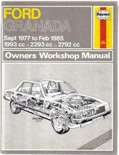 FORD GRANADA L LX GL GLS S GHIA GHIA X e auto Haynes WORKSHOP MANUALE 1977-1985