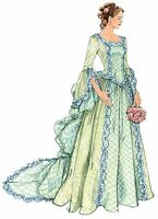 M6097 McCall's Sewing Pattern Misses' Costume Victorian Bustle Gown Dress 6-12