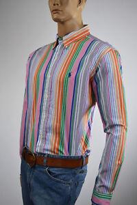 Ralph Lauren Classic Fit Multi-Colored Stripe Long Sleeve Shirt/Blue Pony-NWT