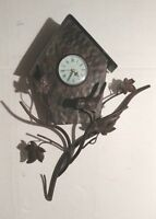 Metal Birds & Birdhouse Wall Clock